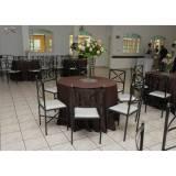 locação de cadeira e mesa preço em Mandaqui